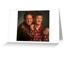 tim and eric news Greeting Card