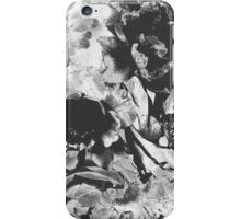 Black and White Abstract Floral Pattern iPhone Case/Skin