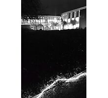 Sainsbury Laboratory at Night Photographic Print