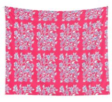 Floral pattern in red and blue Wall Tapestry