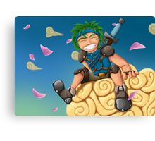 Young Hero Canvas Print