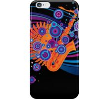 Poster with a saxophone iPhone Case/Skin