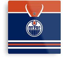 Edmonton Oilers Home Jersey Metal Print