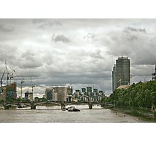 The North Bank of the Thames Photographic Print