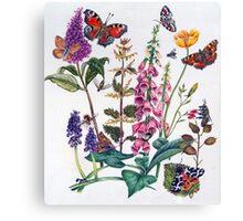 Butterflies and Buddleia Canvas Print