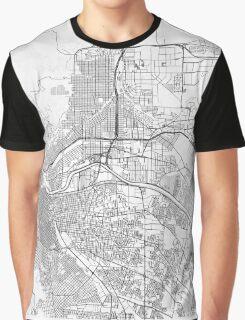 El Paso Map Line Graphic T-Shirt