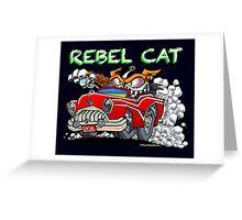 Rebel Cat Greeting Card