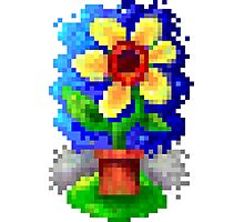 8bit Pixel Art Happy Flower Photographic Print