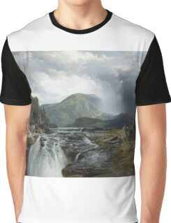 Thomas Moran - The Wilds Of Lake Superior. Mountains landscape: mountains, rocks, rocky nature, sky and clouds, trees, peak, forest, rustic, hill, travel, hillside Graphic T-Shirt