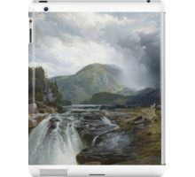 Thomas Moran - The Wilds Of Lake Superior. Mountains landscape: mountains, rocks, rocky nature, sky and clouds, trees, peak, forest, rustic, hill, travel, hillside iPad Case/Skin