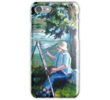 Painting by the river iPhone Case/Skin