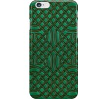 Celtic Knotwork on Green Texture iPhone Case/Skin
