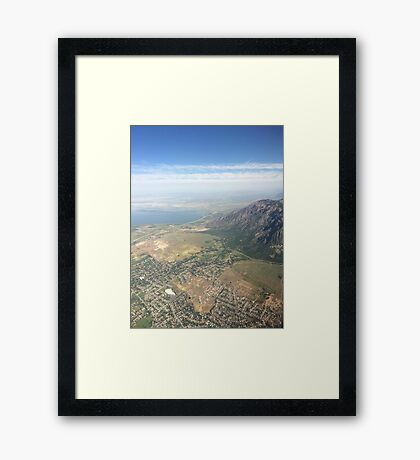 Salt Lake Mountains Framed Print