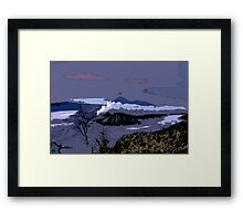 Mountains // Comic Style Framed Print