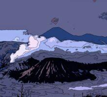 Mountains // Comic Style Sticker