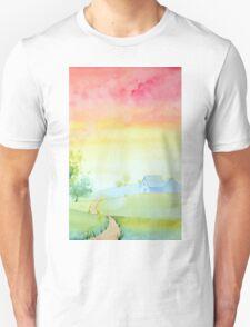 Rosy Sunset Unisex T-Shirt