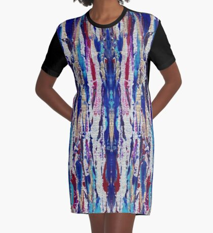 Silver Streak Graphic T-Shirt Dress