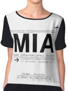 MIA Miami International Airport Call Letters Chiffon Top