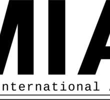 MIA Miami International Airport Call Letters Sticker