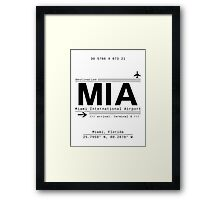 MIA Miami International Airport Call Letters Framed Print