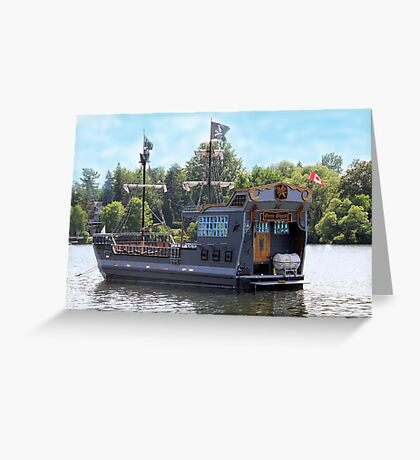 Ghost Ship. Greeting Card