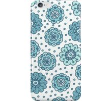 Blue floral seamless pattern. Pretty hand drawn doodle background. iPhone Case/Skin