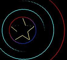 Caps Shield Neon by tumblrnerd