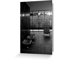 Barcelona Pavilion, Mies van der Rohe Greeting Card