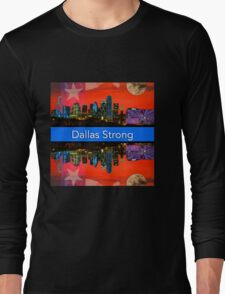 Dallas Strong - Sunset Dallas Skyline Long Sleeve T-Shirt