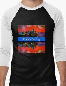 Dallas Strong - Sunset Dallas Skyline Men's Baseball ¾ T-Shirt
