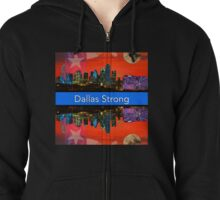 Dallas Strong - Sunset Dallas Skyline Zipped Hoodie