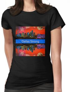 Dallas Strong - Sunset Dallas Skyline Womens Fitted T-Shirt