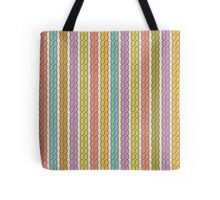Simple plait seamless pattern. Retro colors background.  Tote Bag