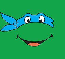 TMNT Leonardo Turtles Pillow by signhunter