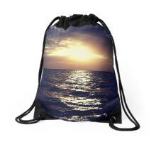 The Open Blue Drawstring Bag