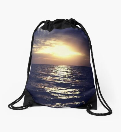 The Open Blue Drawstring Bag