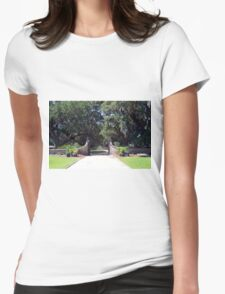 Entrance to Boone Plantation Womens Fitted T-Shirt