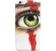 Green eye iPhone Case/Skin
