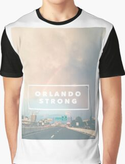 Orlando Strong (rainbow over downtown) Graphic T-Shirt