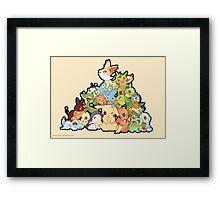 Pokemon - All starters Framed Print