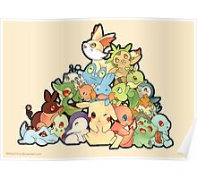 Pokemon - All starters Poster