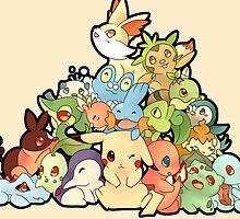 Pokemon - All starters by SeviYummy