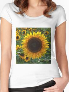 Sunflower20150601 Women's Fitted Scoop T-Shirt