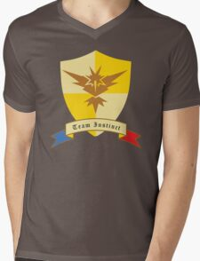 Instinct Crest Emblem Mens V-Neck T-Shirt