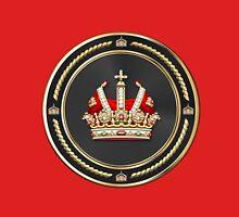 Holy Roman Empire Imperial Crown over Red Velvet Unisex T-Shirt