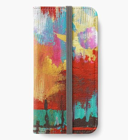 Fire in the Sky iPhone Wallet