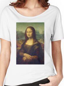 The Mona Lisa By Leonardo Da Vinci Women's Relaxed Fit T-Shirt