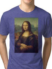 The Mona Lisa By Leonardo Da Vinci Tri-blend T-Shirt