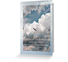 Genesis 27:28 On Life's Journey Greeting Card