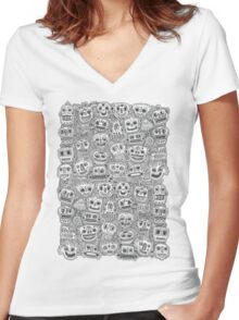Oodles of Doodles Women's Fitted V-Neck T-Shirt